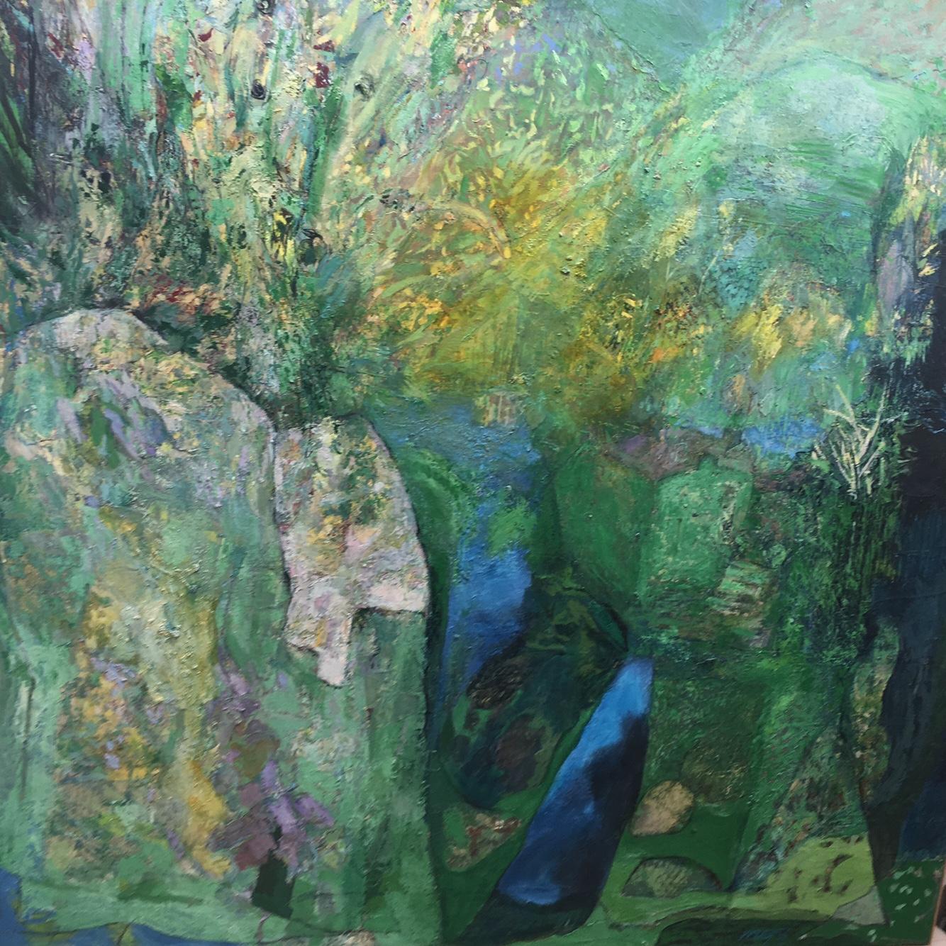 Michael Bilton mixed media on canvas